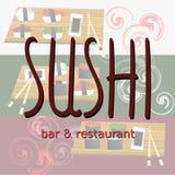 Vintage Sushi Bar Poster. Vector illustration. Good poster Stock Images