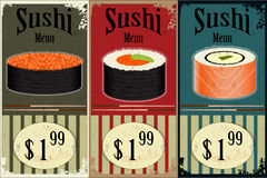 Vintage Sushi Labels Royalty Free Stock Image