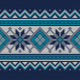 Vintage Sweater Design. Seamless Knitted Pattern Stock Photo