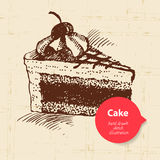 Vintage sweet cake background with color bubble Royalty Free Stock Image