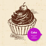 Vintage sweet cake background with color bubble Royalty Free Stock Photos