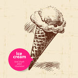 Vintage sweet ice cream background with color Royalty Free Stock Image