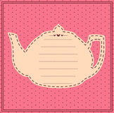 Vintage sweet tea pot. Royalty Free Stock Photography
