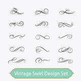 Vintage swirl set. Design element kit Royalty Free Stock Image