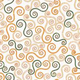 Vintage swirls seamless pattern with grunge effect Royalty Free Stock Photos