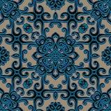 Vintage swirly ornament, seamless pattern Stock Photography