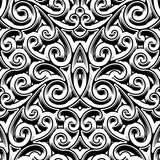 Vintage swirly pattern. Black and white swirly ornament, vintage seamless pattern Stock Photography