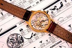 Vintage swiss watch royalty free stock image