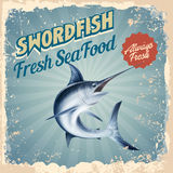 Vintage swordfish always fresh. Banner vintage for chicken always fresh Stock Photo