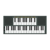 Vintage synthesizer musical equipment flat design vector illustration. Royalty Free Stock Image