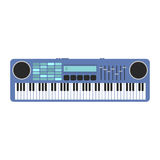 Vintage synthesizer musical equipment flat design vector illustration. Royalty Free Stock Photos