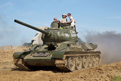 Vintage T34 Russian tank Stock Photography