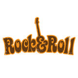 Vintage T-shirt design. 1970s Rock and Roll vintage T-shirt design Vector Illustration