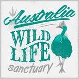 Vintage T - Shirt design - Australian Wild Life Royalty Free Stock Photo