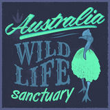 Vintage T - Shirt design - Australian Wild Life vector print illustration. Eps available royalty free illustration
