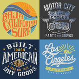 Vintage T-shirt Graphic Set 1 Royalty Free Stock Photos