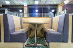 Vintage table of classic diner royalty free stock photography