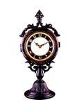 Vintage table clock, isolated. Vintage beautiful table clock, isolated Stock Photo