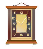 Vintage table clock on a white background Stock Images