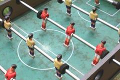 Vintage table football closeup, foosball Stock Images