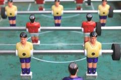 Vintage table football closeup, foosball Royalty Free Stock Photography