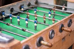 Vintage Table Football or foosball Stock Photos
