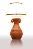 Vintage table lamp. With ground reflex Royalty Free Stock Image