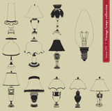 Vintage table lamp  Stock Photos