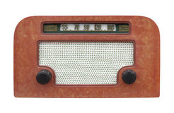Vintage table radio isolated. Stock Image