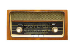 Vintage table radio isolated. Stock Photo