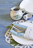 Vintage table setting Stock Images