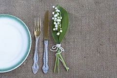 Vintage table setting Stock Image