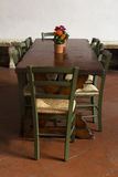 Vintage table in Tuscany Stock Photo