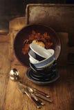 Vintage tableware Stock Images
