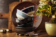 Vintage tableware Royalty Free Stock Photo