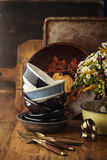 Vintage tableware Royalty Free Stock Images