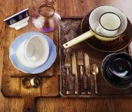 Vintage tableware Stock Image