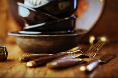 Vintage tableware Stock Photography