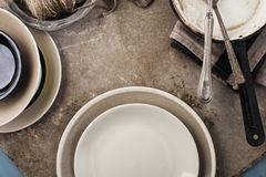 Vintage tableware Stock Images