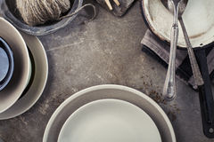 Vintage tableware Royalty Free Stock Photos