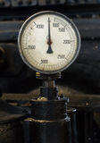 Vintage tachometer. Royalty Free Stock Image