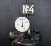 Vintage tachometer. Royalty Free Stock Photography