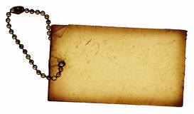 Vintage Tag. This is a scan of a grungy old paper tag Stock Images