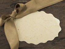 Vintage tag or label Royalty Free Stock Photo