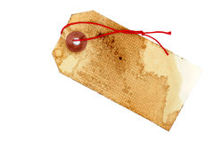 Vintage Tag with Red String Stock Photography
