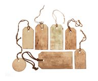 Vintage tags Royalty Free Stock Photography