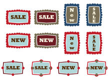 Vintage tags Stock Images