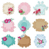 Vintage Tags and Frames with Flowers Royalty Free Stock Photos