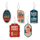 Vintage tags with string Stock Photography