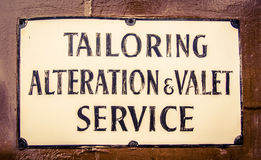 Vintage Tailor Sign In London Stock Photos